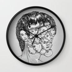Face Lock BW Wall Clock