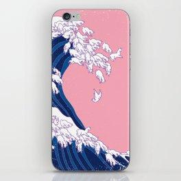 Llama Waves in Pink iPhone Skin
