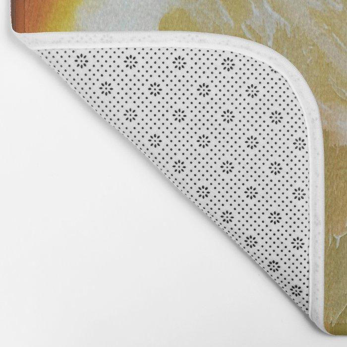 Lemony Good Glitch Bath Mat