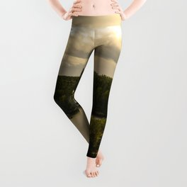 Forest and lake Leggings
