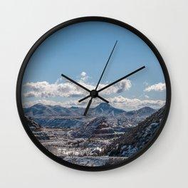 Cloudy Winter Mountain Landscape - Bisbee Arizona Wall Clock