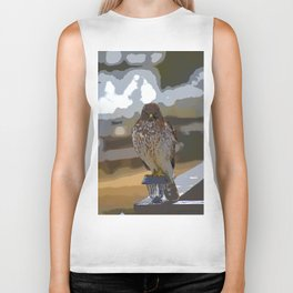 Chicken Hawk Starring Down At Me Biker Tank