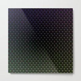Ombre stars on black background Metal Print