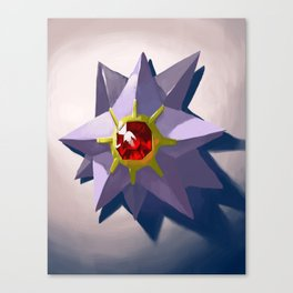 Mounted Starmie Canvas Print