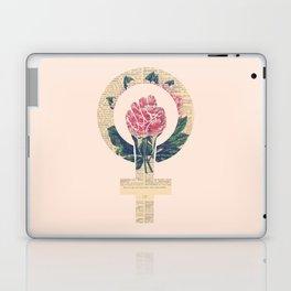 Respect, equality, women's liberation. Feminism Power Fist / Raised Fist Laptop & iPad Skin