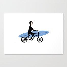Winter surfer Canvas Print