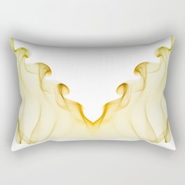 Yellow green twisted smoke abstracts Rectangular Pillow