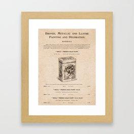 VINTAGE GOODS / Artists' Materials - Gold Paint Framed Art Print