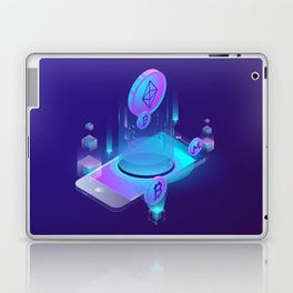 BITCOIN! BLOCKCHAIN CRYPTOCURRENCY FINANCIAL TECHNOLOGY Laptop & iPad Skin