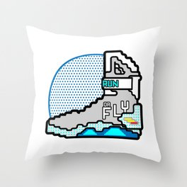 Run Or Fly Throw Pillow