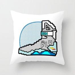 Run Or Fly Throw Pillow