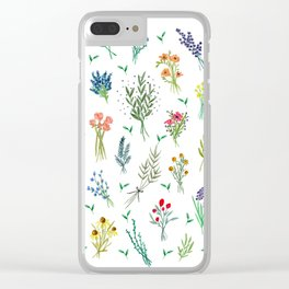 Garden Bouquets Clear iPhone Case