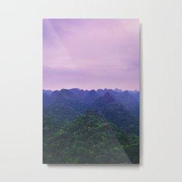 Purple Dusk over the Lush Summer Hills. Fine Art Photography. Vietnam. Metal Print