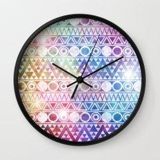 Tribal Stardust  Wall Clock