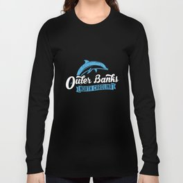 Outer Banks Dolphin TShirt, Outer Banks Beach Tee, NC Tee Long Sleeve T-shirt