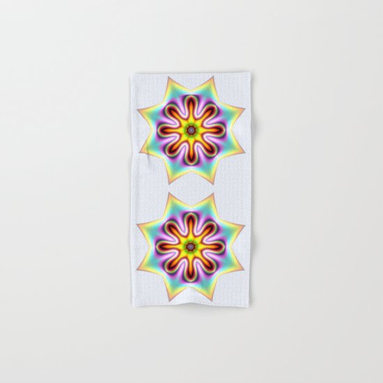 Decorative colourful silky star Hand & Bath Towel