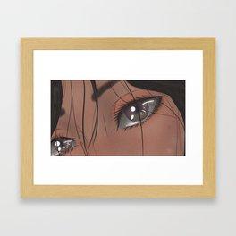 """Hold back the river, let me look in your eyes"" Framed Art Print"