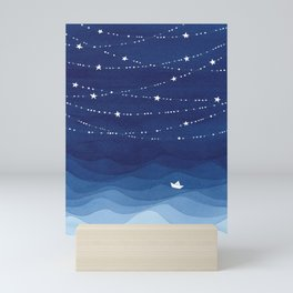 Garland of Stars IV, night sky Mini Art Print