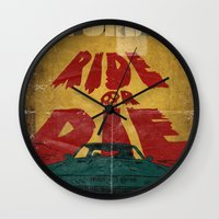 marauders Wall Clocks featuring MEKANO TURBO/ride or die poster by alexis ziritt