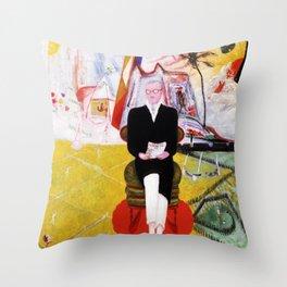 """Florine Stettheimer """"Henry McBride, Art Critic"""" Throw Pillow"""