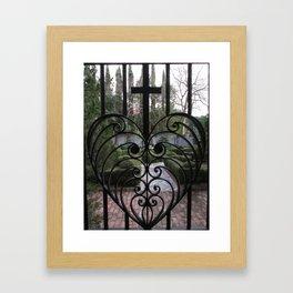 Heart Gate Iron Work Charleston S.C.  Framed Art Print