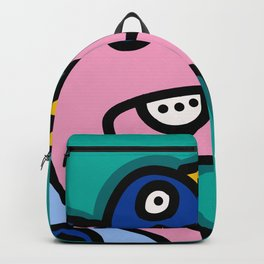 Underwater Green Pink and Blue Creatures Street Art Backpack