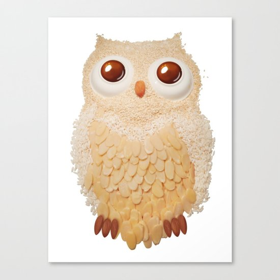 Owl Collage #5 Canvas Print