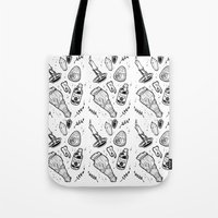 witchcraft Tote Bags featuring WITCHCRAFT by Fokshee