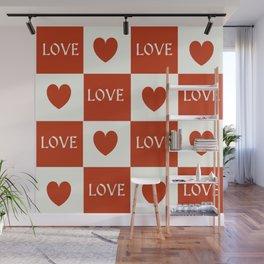 Love & Hearts #buyart #society6 Wall Mural