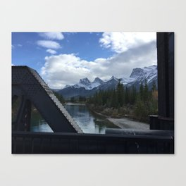 The Three Sisters, Canmore, Canada  Canvas Print