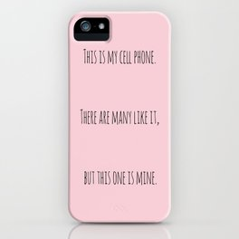 Cell Phone Cover Pink iPhone Case