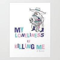 The Monster Inside of Me Art Print