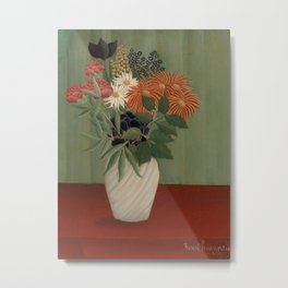Bouquet of Flowers with China Asters and Tokyos Metal Print