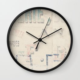 the writing on the wall ... Wall Clock
