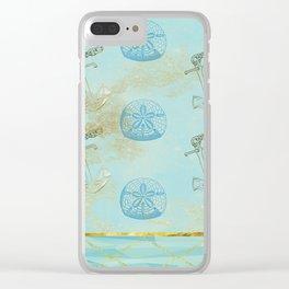 Beach Design Clear iPhone Case