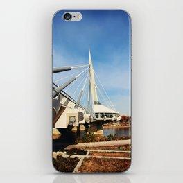 Esplanade Riel Suspension Bridge iPhone Skin