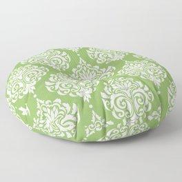 Green Damask Floor Pillow