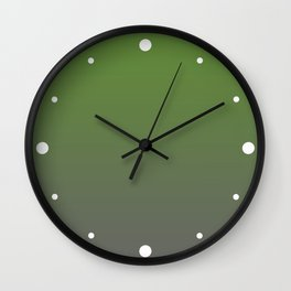 Lime Green & Gray Gradient Color Wall Clock