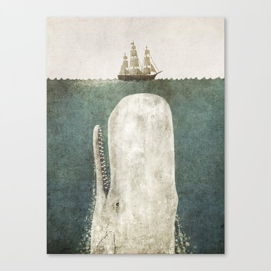 The Whale - vintage option Canvas Print