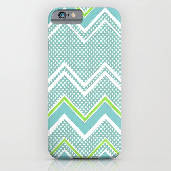 Ric-Rac-Dotty Blue And Lime iPhone & iPod Case