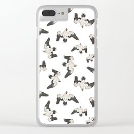 Birds Pattern Photo Collage Clear iPhone Case