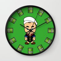 popeye Wall Clocks featuring Popeye  by Jefferson Ng