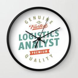 Logistics Analyst Wall Clock