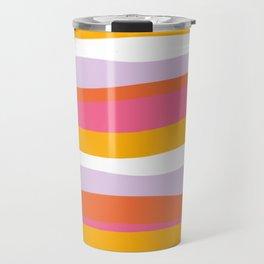 cali beach stripes Travel Mug