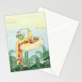summer chillax Stationery Cards