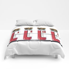 Blood Group Samples Comforters