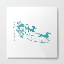 OH MY GOR - Hot Dog Trainer Metal Print