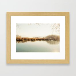 Autumn Lake Scene Framed Art Print