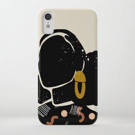 Black Hair No. 4 iPhone Case