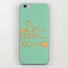 Valentine's Day Orange Peel Heart iPhone & iPod Skin